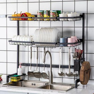 厨房不锈钢水槽沥水架水池置物架碗碟盘子控水架洗碗池收纳架碗架