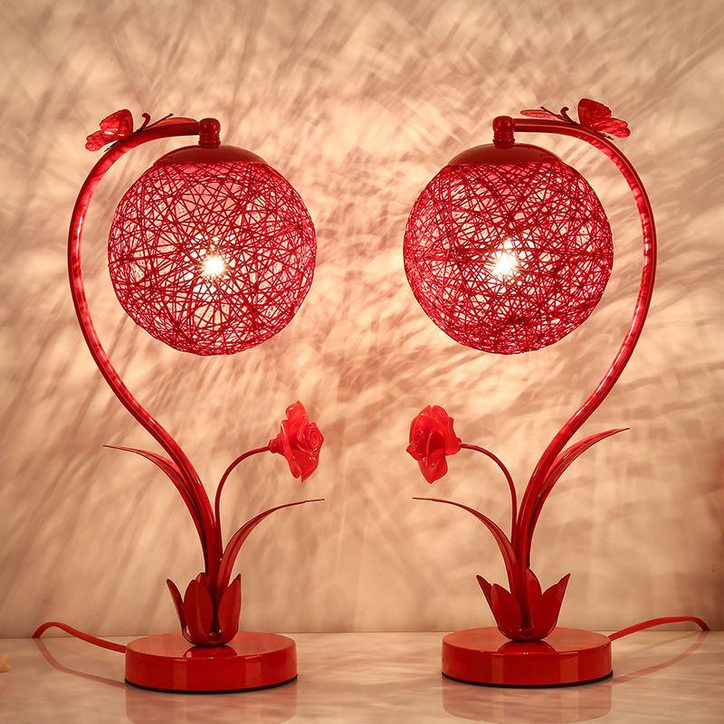 结婚台灯卧室婚房床头灯婚庆红色喜庆台灯创意长明灯一对新婚礼物【2月23日发完】