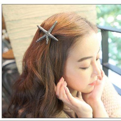 【多款可选】韩版高档发饰女式复古海星发夹手工制作弹簧发卡饰品