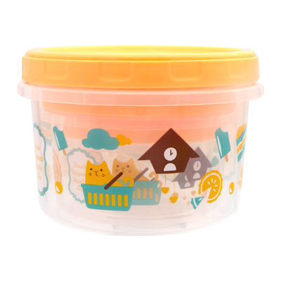 创意卡通保鲜盒套装塑料零食盒冰箱微波炉干果盒子三件套密封盒罐