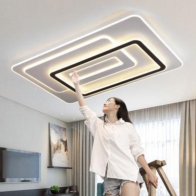 客厅灯2020款大气简约现代长方形led吸顶灯餐厅卧室智能灯具套餐
