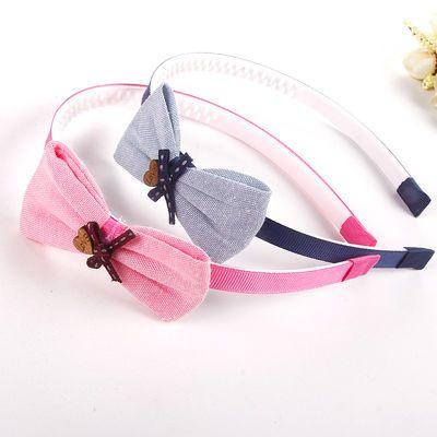 【2-5个装】韩国儿童发箍发饰蝴蝶结宽边带齿防滑头箍女童头饰品