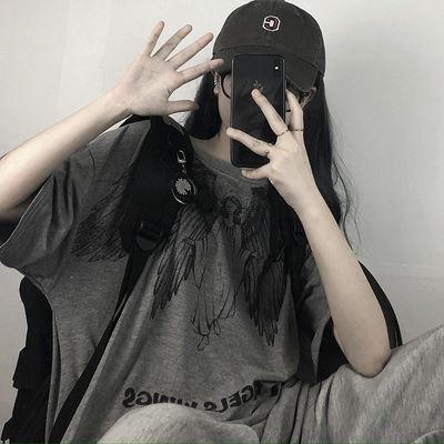 情侣装嘻哈风短袖上衣女学生韩版宽松打底衫ins新款T恤衣服男女款