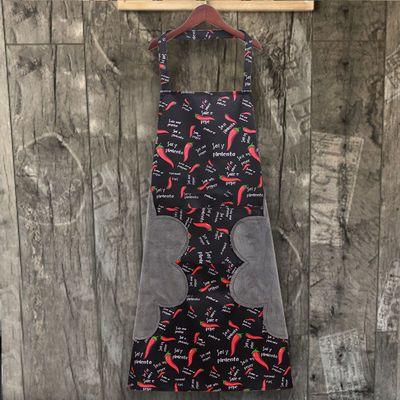 加肥加长围裙可擦手防污防油厨房日式家用做饭工作服韩版定制log