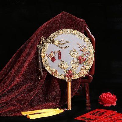 新娘团扇中式婚礼婚庆喜扇手捧花摄影道具diy材料包吉祥如意多款