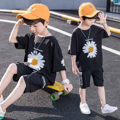 儿童装男童套装男孩衣服夏装套装2020童装新品韩版帅气中大童潮装