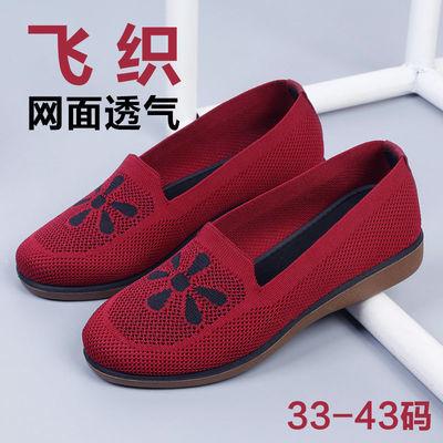老北京布鞋女网鞋夏季网面透气休闲老人鞋中老年人软底防滑妈妈鞋