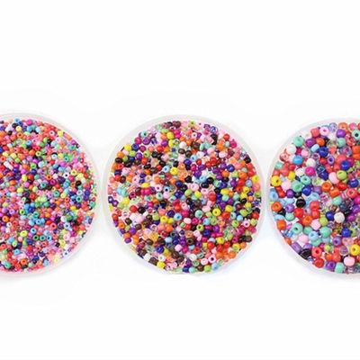 散珠半斤250克编织材料玻璃小米珠不规则混色大包饰品首饰DIY配件
