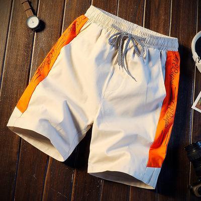 夏季海边度假刺绣字母沙滩裤男宽松情侣泳裤五分短裤男大裤衩潮流