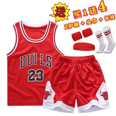 夏季儿童小中大童篮球服套装童装男童无袖背心短裤小学生训练球衣