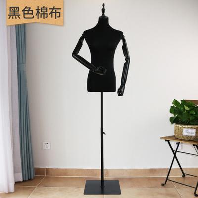 黛尔菲娜黑色女半身模特道具橱窗婚纱展示带活动手臂展示道具人台