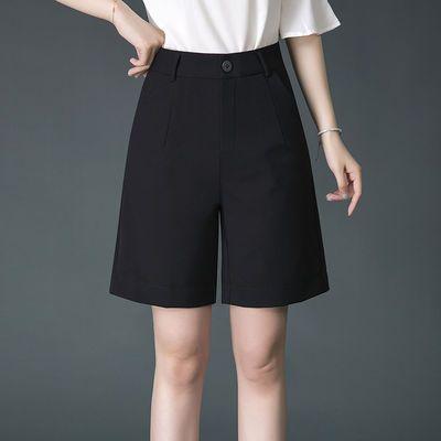 2020夏季新款五分裤女士宽松直筒西装短裤休闲裤子女大码高腰薄款