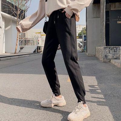2020春夏装新款薄款纯色韩版宽松休闲运动裤女简约哈伦九分卫裤