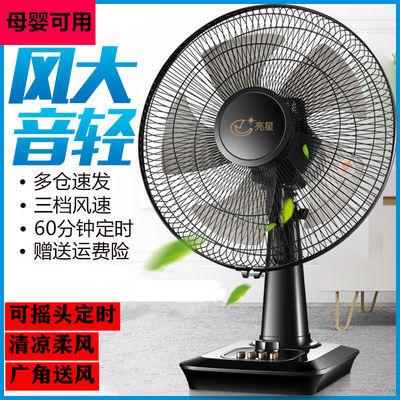台式电风扇宿舍16寸大台扇节能定时小型风扇摇头静音落地电扇家用