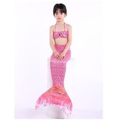 儿童美人鱼泳衣美人鱼尾巴女孩美人鱼服装游泳衣温泉服可装脚蹼