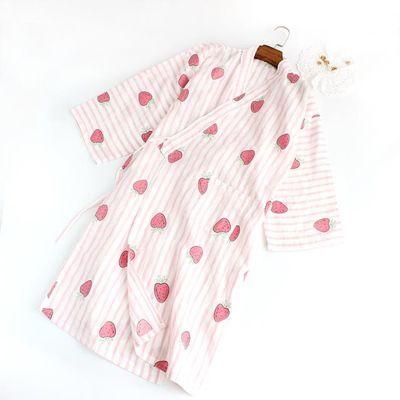 宾馆顾客夏冰浴裙成人睡袍女夏学生睡裙超薄棉纱衣服水洗纯棉袖套