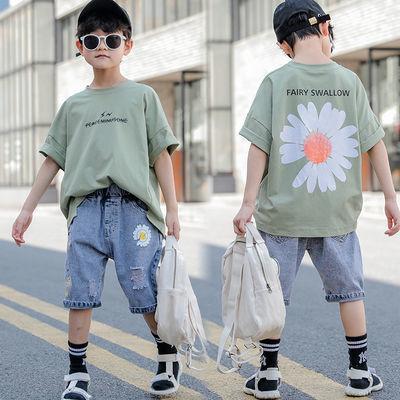 男童短袖套装夏装2020新款韩版洋气童装儿童夏季半袖短裤两件套潮