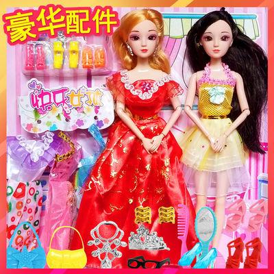 洋芭比娃娃套装大礼盒公主女孩儿童玩具屋别墅衣服布生日礼物可爱