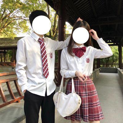 【桥豆麻袋少女】皓海 原创JK/DK制服刺绣角襟白色衬衫学院