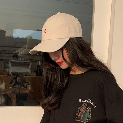 帽子女韩版学生百搭牛油果色ins鸭舌帽夏季网红棒球帽防晒太阳帽