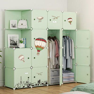 简易衣柜组装布艺现代简约柜子家用出租房收纳仿实木挂塑料布衣橱