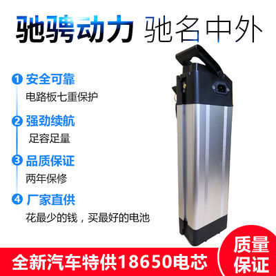 2020爆款48V电动车锂电池银鱼锂电池36V电动自行车代驾外卖锂电池