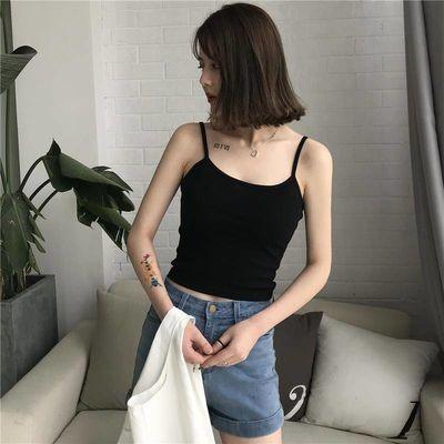 韩版学生吊带背心女外穿无袖美背小背心夏春季百搭修身打底吊