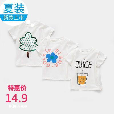 宝宝夏季1宽松纯棉短袖T恤婴儿2薄款透气打底衫儿童夏装3半袖上衣