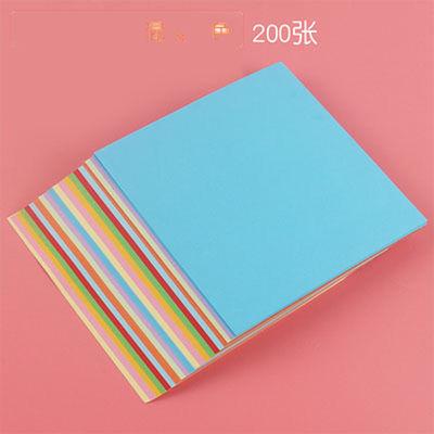A4折纸彩色卡纸折纸材料10色儿童正方形手工纸千纸鹤幼儿园剪彩纸