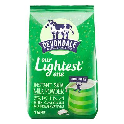 澳洲德运脱脂奶粉减脂餐女士早餐低脂无糖健身成年高钙零脂肪1kg