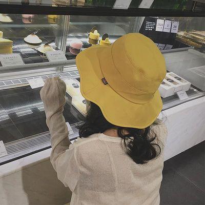 新款高档网红洋气帽子女太阳帽韩版学生渔夫帽防晒遮阳帽防紫外线
