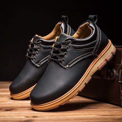 男士休闲皮鞋防臭透气工装鞋厨房厨师鞋防水防滑工作鞋潮流板鞋男