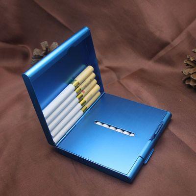 个性创意便携超薄铝合金烟盒20支装激光定制刻字男士老公礼物礼品