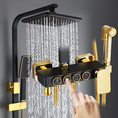 家用花洒套装恒温数显冲凉浴室全铜增压顶喷龙头喷头洗手间淋浴器