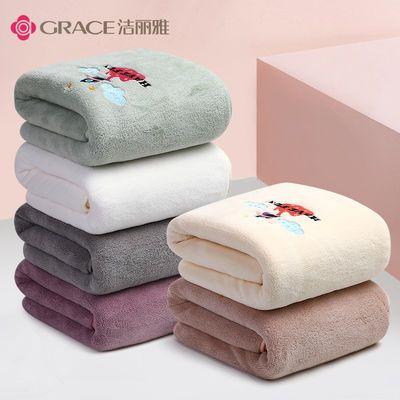 洁丽雅婴儿浴巾新生非纯棉纱布洗澡毛巾盖毯儿童婴儿宝宝超柔吸水