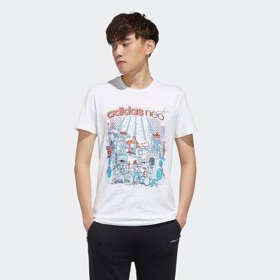 Adidas阿迪达斯NEO男装 2020夏季新品潮流运动休闲短袖T恤 FP7295