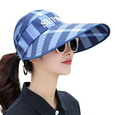 帽子女夏季韩版太阳帽户外遮脸防晒帽时尚遮阳帽休闲空顶帽女凉帽