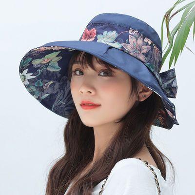 网红夏天防晒帽女士大沿遮阳帽女防紫外线冒帽子夏季防晒女太阳帽