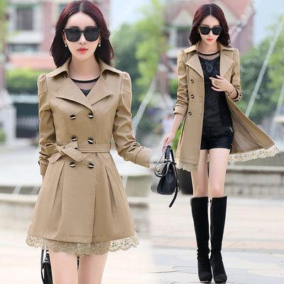 【热卖春秋装】风衣女中长款2020韩版新款女装小个子淑女春秋外套