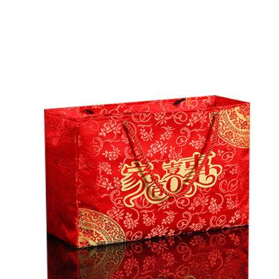 结婚锦缎彩礼6万手提包15W20万超大聘金红包利是封满月回礼糖果袋
