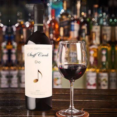红酒澳大利亚原瓶进口五线谱―DO系列干红葡萄酒送开瓶器