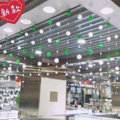珠宝店创意吊饰 金店奶茶店幼儿园商场装饰环境布置 藤球水晶挂饰