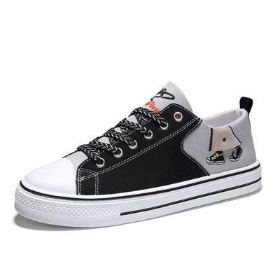 春季13青少年帆布板鞋12初中学生15岁男孩布鞋大童运动休闲男鞋子