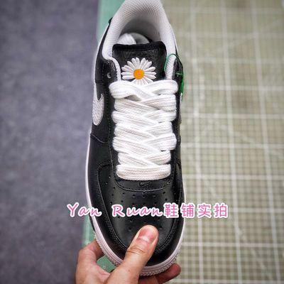小雏菊权志龙同款空军一号,联名刮刮乐涂鸦休闲运动板鞋男女实拍