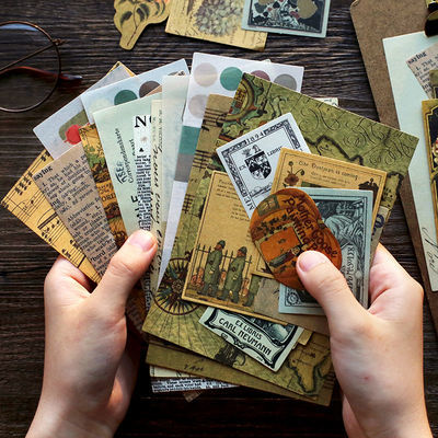 复古手帐素材纸 文艺复兴ins风 简约 无粘性手机背面小卡片便条纸