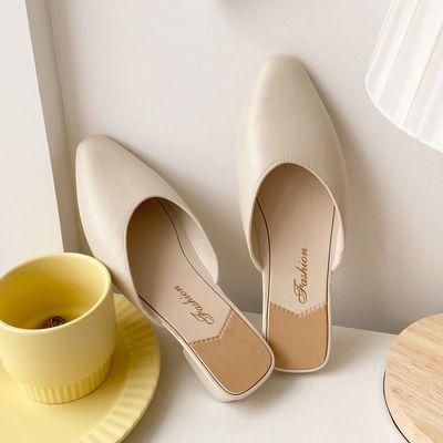 包头半拖鞋女夏外穿网红ins韩版时尚百搭单鞋懒人室外休闲凉拖鞋