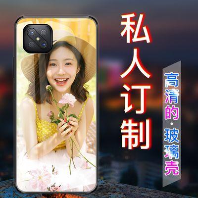 OPPO a92s来图定制手机壳a52玻璃防摔自己照片做新款全包保护套女