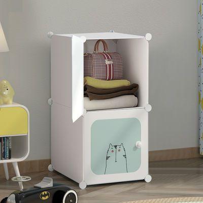简易儿童衣柜出租房用简约现代家用布衣柜卧室省空间塑料收纳柜子