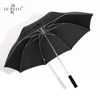 雨景双人大号雨伞高尔夫长柄伞创意防风超大号雨伞双人定制伞