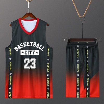 篮球服套装男定制比赛球衣潮流嘻哈街头篮球队服儿童训练背心印字